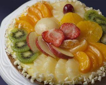 Klein vla vers fruit 15 cm